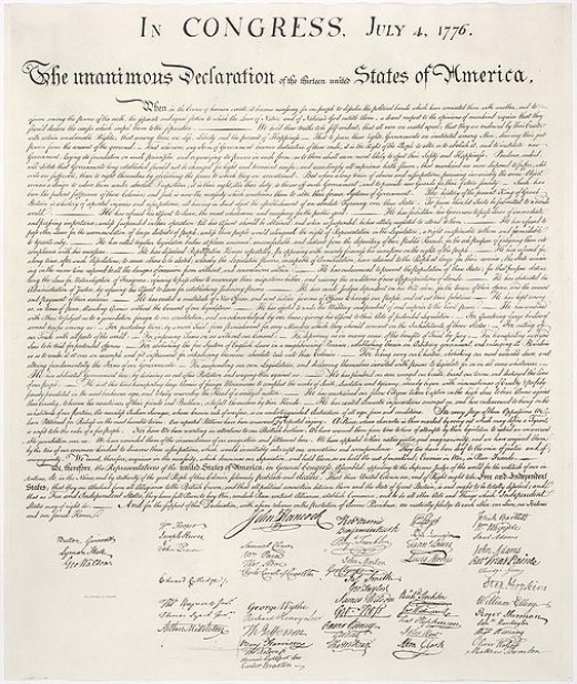 Some of my ideas are borrowed from great thinkers of the past, that helped to put together things like the Declaration of Independence.