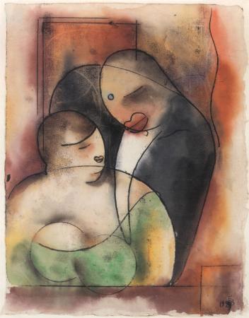 Erich Borchert. A Couple in Cafe.
