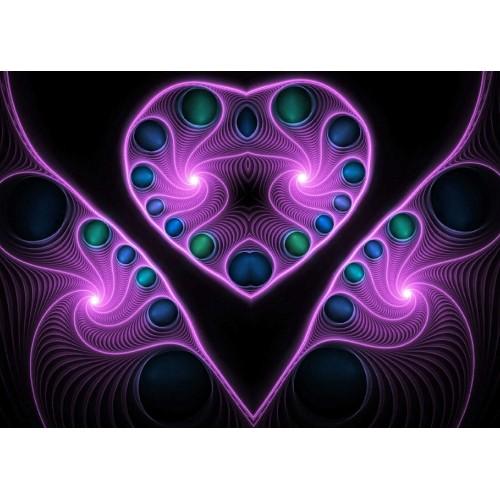 Stereo Love Heart Fractal