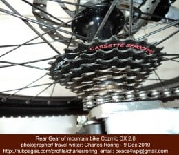 Shimano rear gear in my dirt jump Cozmic DX 2.0 mountain bike manufactured by Polygon