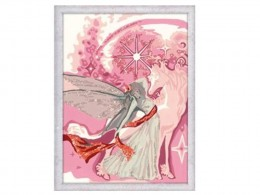 Fairy & Unicorn Painting by Numbers Kit Glitter Series by Ravensburger