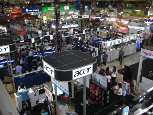 Ground floor of MBK - Brand name computer companies gather here to promote their brand
