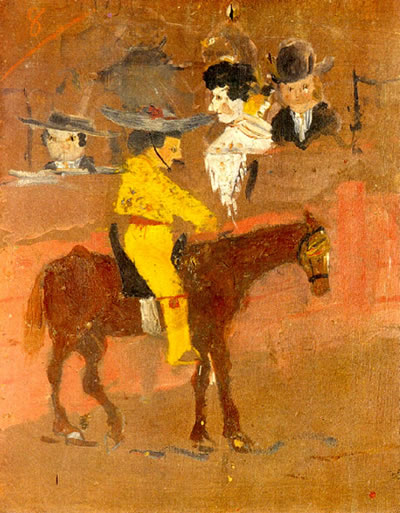 Picasso's first painting, 'Le Picador'.