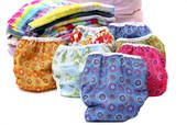 Today's cloth diapers come in a wide variety of styles and patterns.