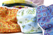 Cloth diapers are available in all kinds of fun prints!