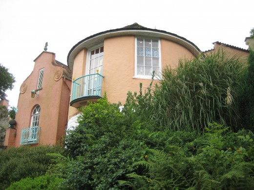 Rear view of Number Six's house, Portmeirion
