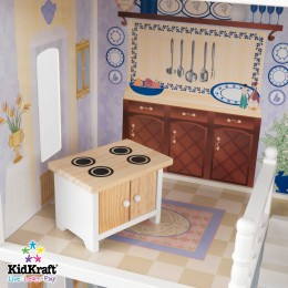 Kitchen found inside the KidKraft dollhouse.