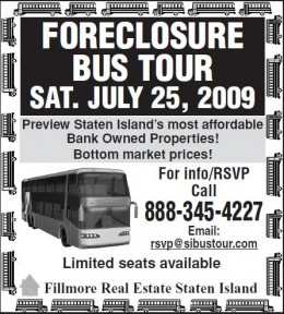 Foreclosure Bus Tour Advertisement Dated July 25, 2009