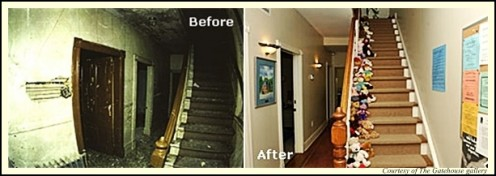 Stairway inside the house before and after renovation - from The Gatehouse gallery