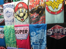 Chatuchak - T-shirts are sold everywhere. Though big sizes might be a bit hard to find.