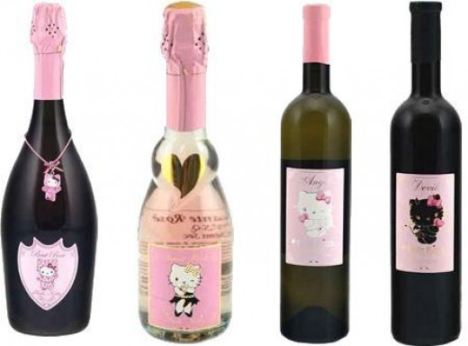 The Hello Kitty wine collection began appearing in specialty wine and liquor