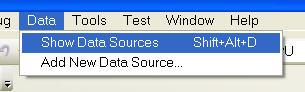 Show Data Source Pane
