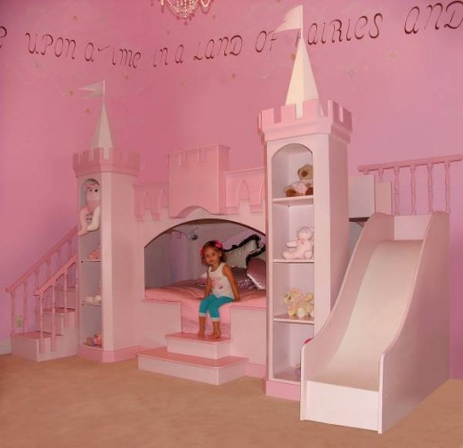 Girls Princess Castle Bed 520 x 503