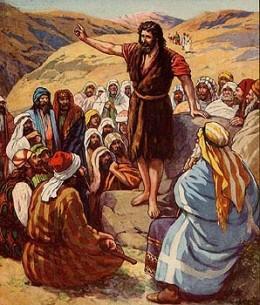Jesus teaching the crowd