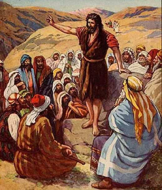 Jesus teaching the crowd
