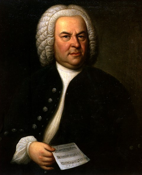 Bach in a 1748 picture