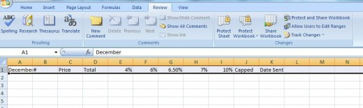 highlighting a row in Excel