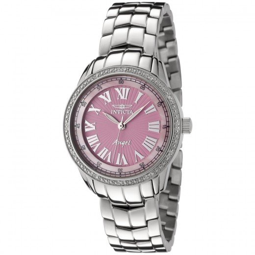 Pink analog Invicta Watch
