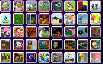 Each Friv icon gives access to a game