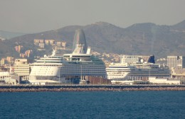 Barcelona is a major hub for cruise ships.