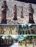 Sculptures from the rock garden in Chandigarh