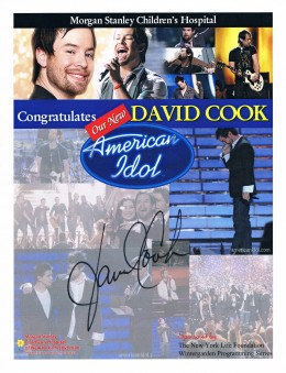 A second autograph from David Cook.