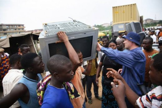 "E-waste from Europe arrives in Nigeria illegally to be sold as ""second hand goods"""