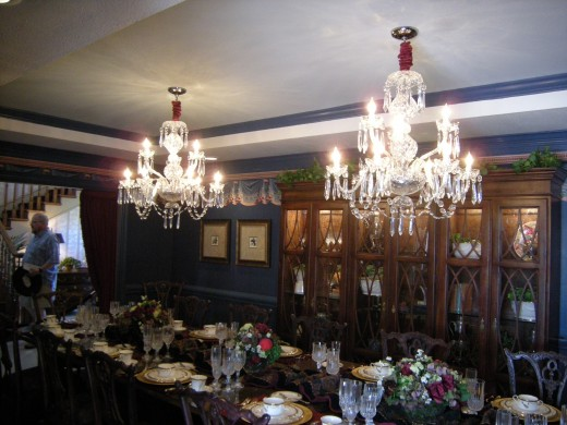 Chandeliers in the dining room