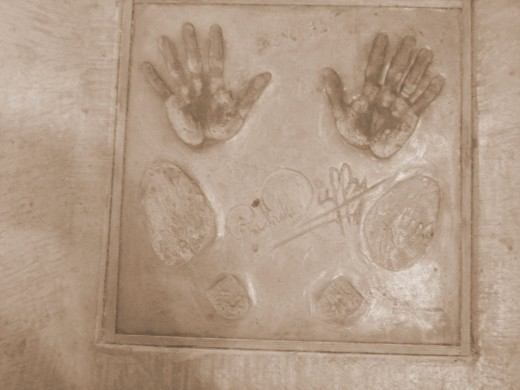Patrick Duffy's autograph, hand prints and footprints
