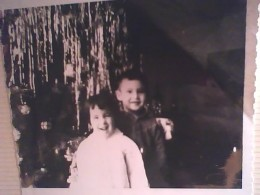 Me and my brother at Christmas, 1963.