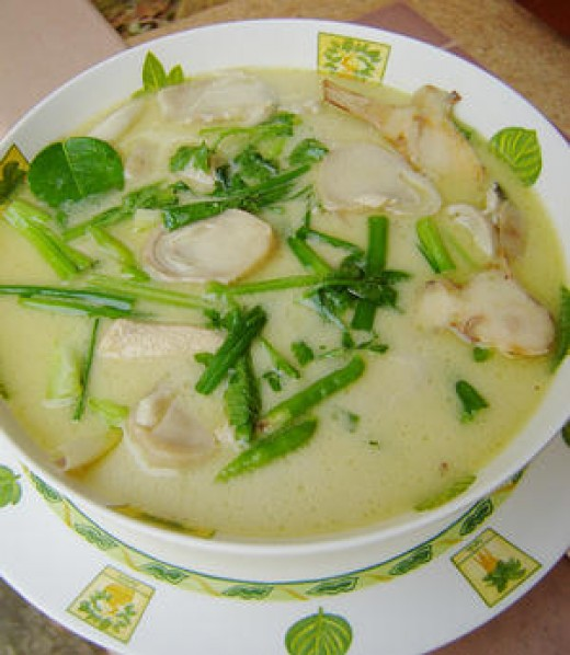 A delicious helping of Tom Kha Gai.