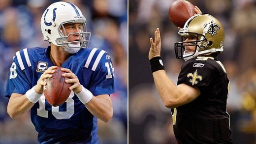 Payton Manning vs Drew Brees