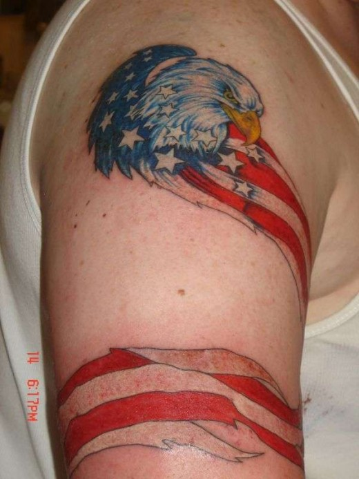 Enjoy the mouthwatering American Flag Tattoos you lovely peeps,