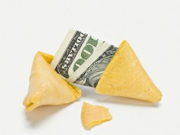 Fortune Cookie with Money - Money Decisions Your Control - Not Your Fortune - You Create the Fortune of Your Finances