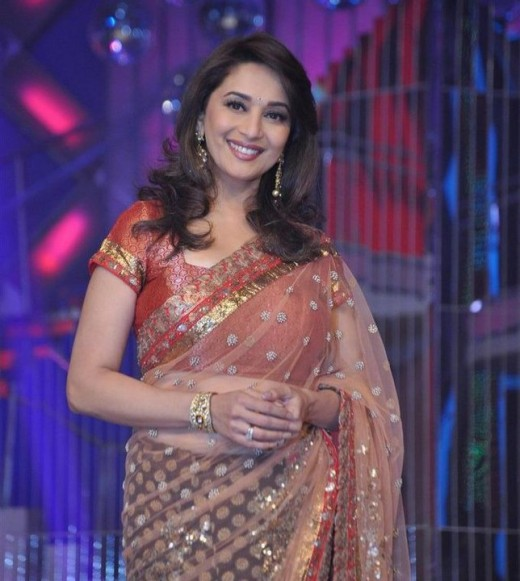 Bollywood Actress Madhuri Dixit Saree Photos