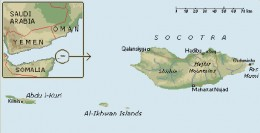 Map of Socotra Islands