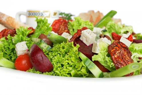Healthy Salad Full Of Vitamins And Nutrients