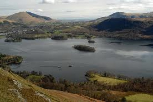Derwent Water and Keswick viewed from Catbells