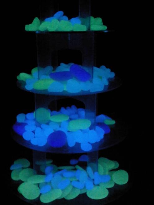 Aqua, Blue, Green & Purple Cobble Stones and Pebbles