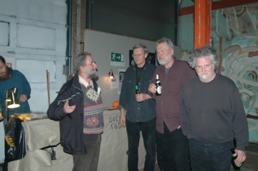 after the concert: me, Don Dietrich, Jim Sauter, Donald Miller