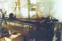 A standard rifling machine made in the 1940s and used by David Hillard to make his famous sporting and match rifles for many decades.