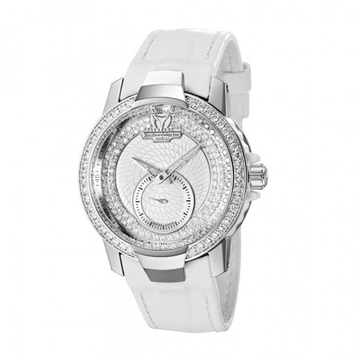 TechnoMarine Women's Luxury White Watch with Diamond Dial