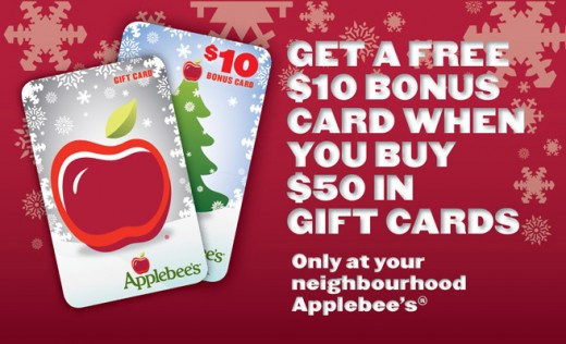 Gift card promotions 2010