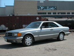 The author's personal 1987 560 SEC. Mother of Pearl Grey Metallic with blue leather interior. Approximately 112,000 miles.