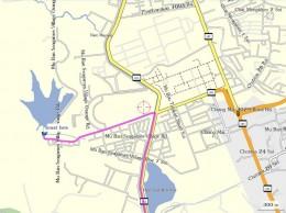 Map Showing Lake HuaY Tung Tao