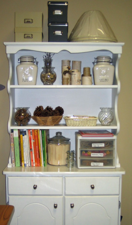 Craft supplies storage
