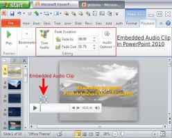 How To Embed Audio In PowerPoint Presentation & Edit It