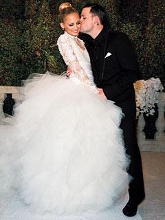 Wedding gown by Marchesa.