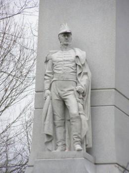 William Henry Harrison statue at Tippecanoe Battlefield Monument