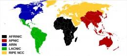 Work regions - IP Registries